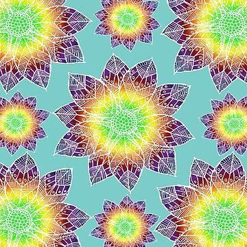 Boho Mandala Flowers by ImageMonkey