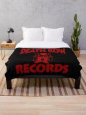 DEATHROWred Throw Blanket