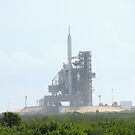 ares test rocket on pad by ALLEN GREEN