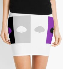 ASEXUAL FLAG ASEXUAL ACE OF SPADES ASEXUAL T-SHIRT Mini Skirt