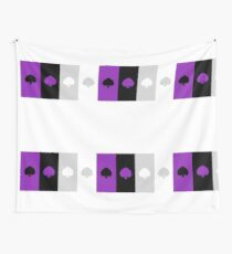 ASEXUAL FLAG ASEXUAL ACE OF SPADES ASEXUAL T-SHIRT Wall Tapestry