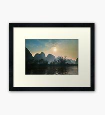 Yulong river Framed Print