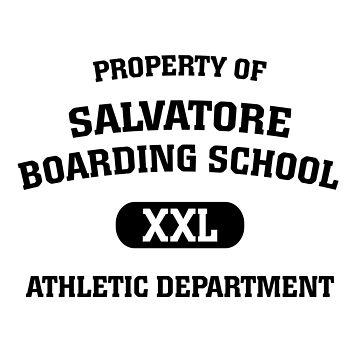 Property Of Salvatore Boarding School Athletic Department by BadCatDesigns