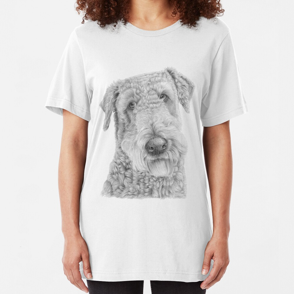 Airedale terrier Slim Fit T-Shirt