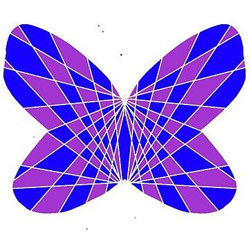 Psychedelic op-art groovy halloween butterfly by MoMoJaJa