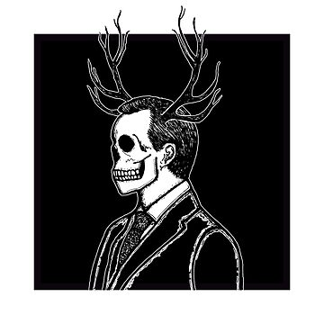 Skull and Stag Antlers Hannibal Lecter - NBC Series by tolson89