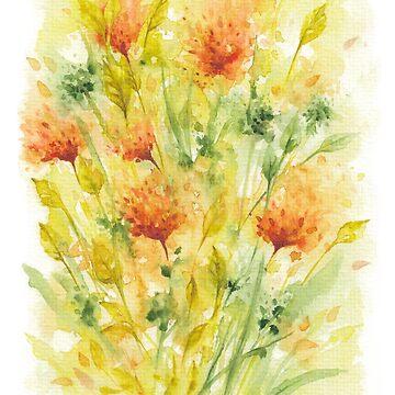 Fiery Flowers Field  by IvaW