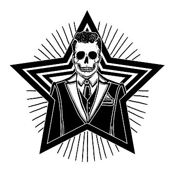 Andy You're a Star - The Killers - Skeleton Inktober Illustration by tolson89