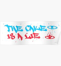 The cake is a Lie!  Poster