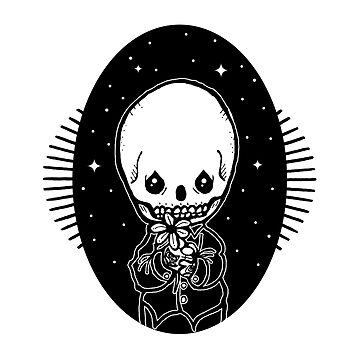 Inktober - Precious Moments - Skull and Flower Boy by tolson89