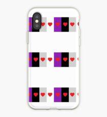 HETEROROMANTIC LOVE HEARTS ASEXUAL FLAG ASEXUAL T-SHIRT iPhone Case