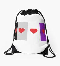 HETEROROMANTIC LOVE HEARTS ASEXUAL FLAG ASEXUAL T-SHIRT Drawstring Bag