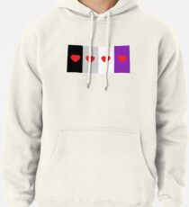 HETEROROMANTIC LOVE HEARTS ASEXUAL FLAG ASEXUAL T-SHIRT Pullover Hoodie