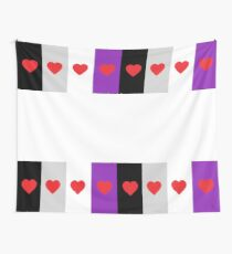 HETEROROMANTIC LOVE HEARTS ASEXUAL FLAG ASEXUAL T-SHIRT Wall Tapestry