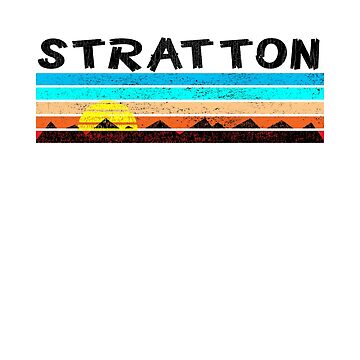 Ski Stratton Vermont Skiing Mountains Snowboarding Londonderry by MyHandmadeSigns