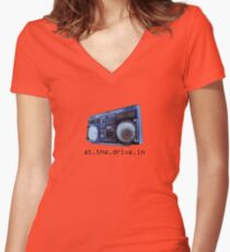 At The Drive-In Women's Fitted V-Neck T-Shirt