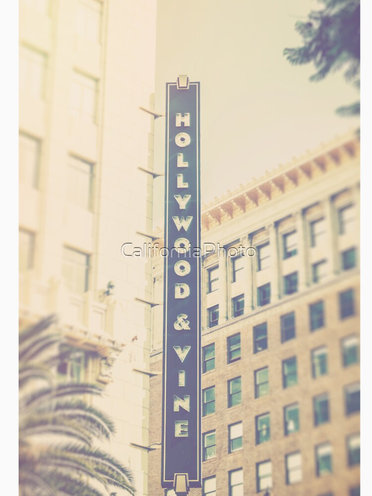 Hollywood And Vine California by CaliforniaPhoto