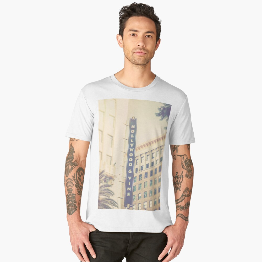 Hollywood And Vine California Men's Premium T-Shirt Front