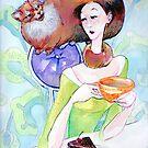 Comforter -mix media painting by Donata Zawadzka