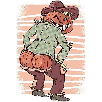 Halloween Scarecrow Pumpkin Ass by soondoock