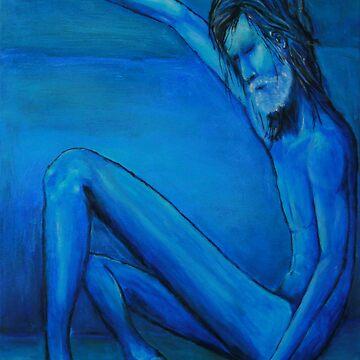 Blue man by HANDraw