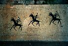 Melbourne Cup Day graffitti by Juilee  Pryor