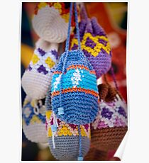 Knitted Pouches Poster