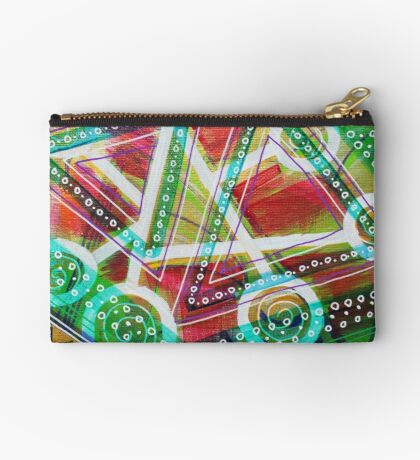 Cascade of Electrons: Inner Power Painting Studio Pouch