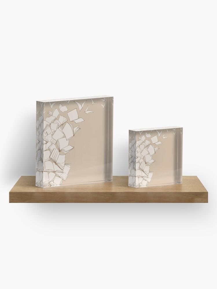 Alternate view of Books Acrylic Block