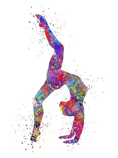 Quot Gymnastics Girl Watercolor Gymnastics Teen Gift
