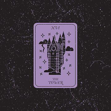 Tarot Card - XVI - The Tower by SydneyKoffler