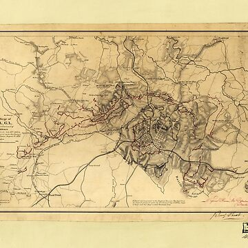 Civil War Map of the Siege of Atlanta, July 19th-August 26th 1864 by allhistory