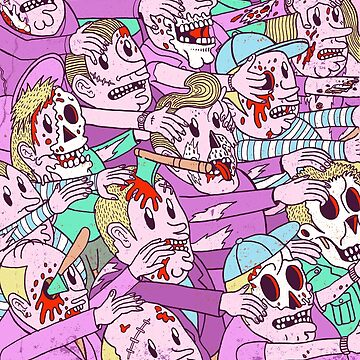 Pink Zombie Halloween Invasion by MUMtees