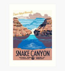 Snake Canyon Hourglass  Art Print