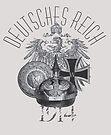 German 1914 Eagle, Pickelhaube, Buckle, Iron Cross by edsimoneit