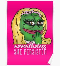 Pepe The Frog Trotzdem beharrte sie auf einer Parodie Poster