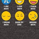 I Love, I Like Math Funny Emoji Emoticon Social Text Icons Teacher Teaching Graphic by DesIndie