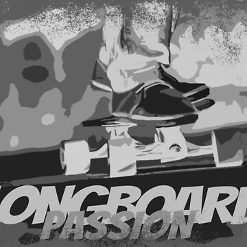 Longboard Skateboard Shirt Gift Passion by Rueb