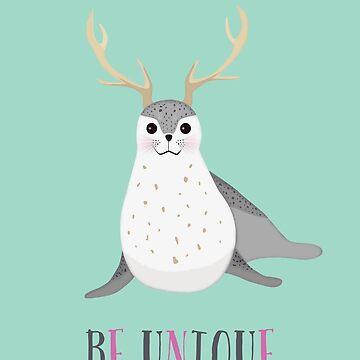 Oh, my deer seal by yanatibear