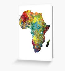 Africa map 3 Greeting Card