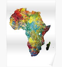 Africa map 3 Poster
