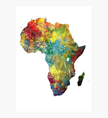Africa map 3 Photographic Print