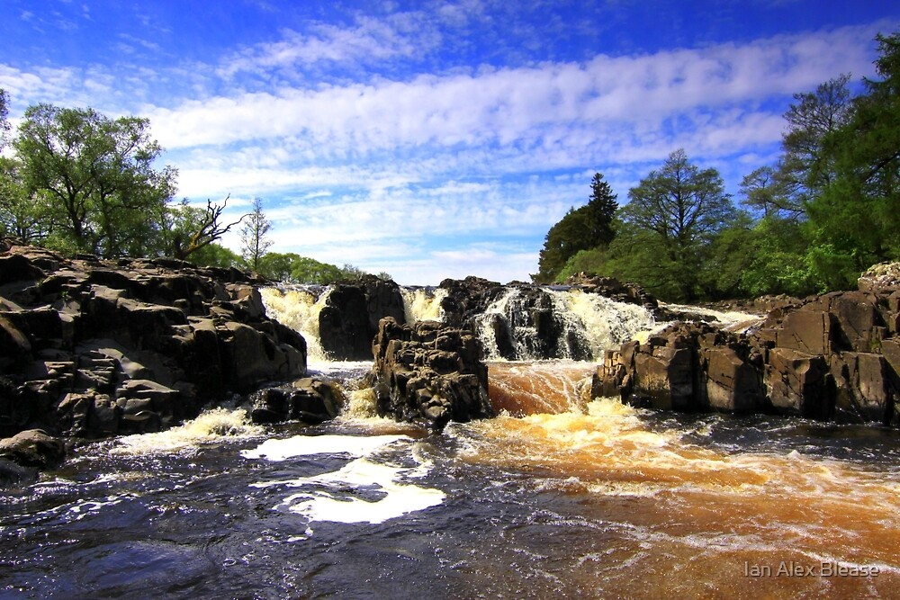 Waterfall on the River Tees. by Ian Alex Blease