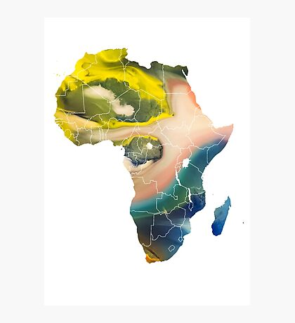 Africa Map 5 Photographic Print