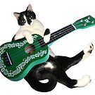 Cat with Ukulele by catsclips