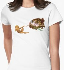 Buddha and Thomas (transparent) Women's Fitted T-Shirt