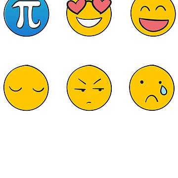 I Love, I Like Math Funny Emoji Emoticon Social Text Icons Student Nerd Geek Graphic by DesIndie