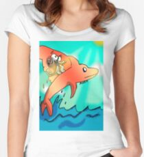 Dolphin WindSurfer Women's Fitted Scoop T-Shirt