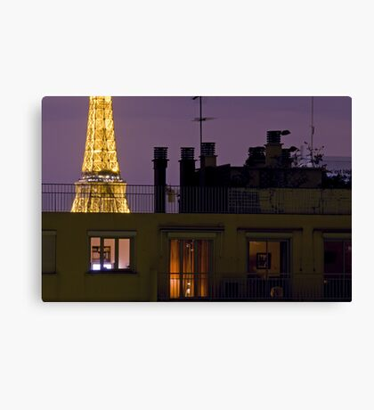 France - Paris 75016 - By night Canvas Print