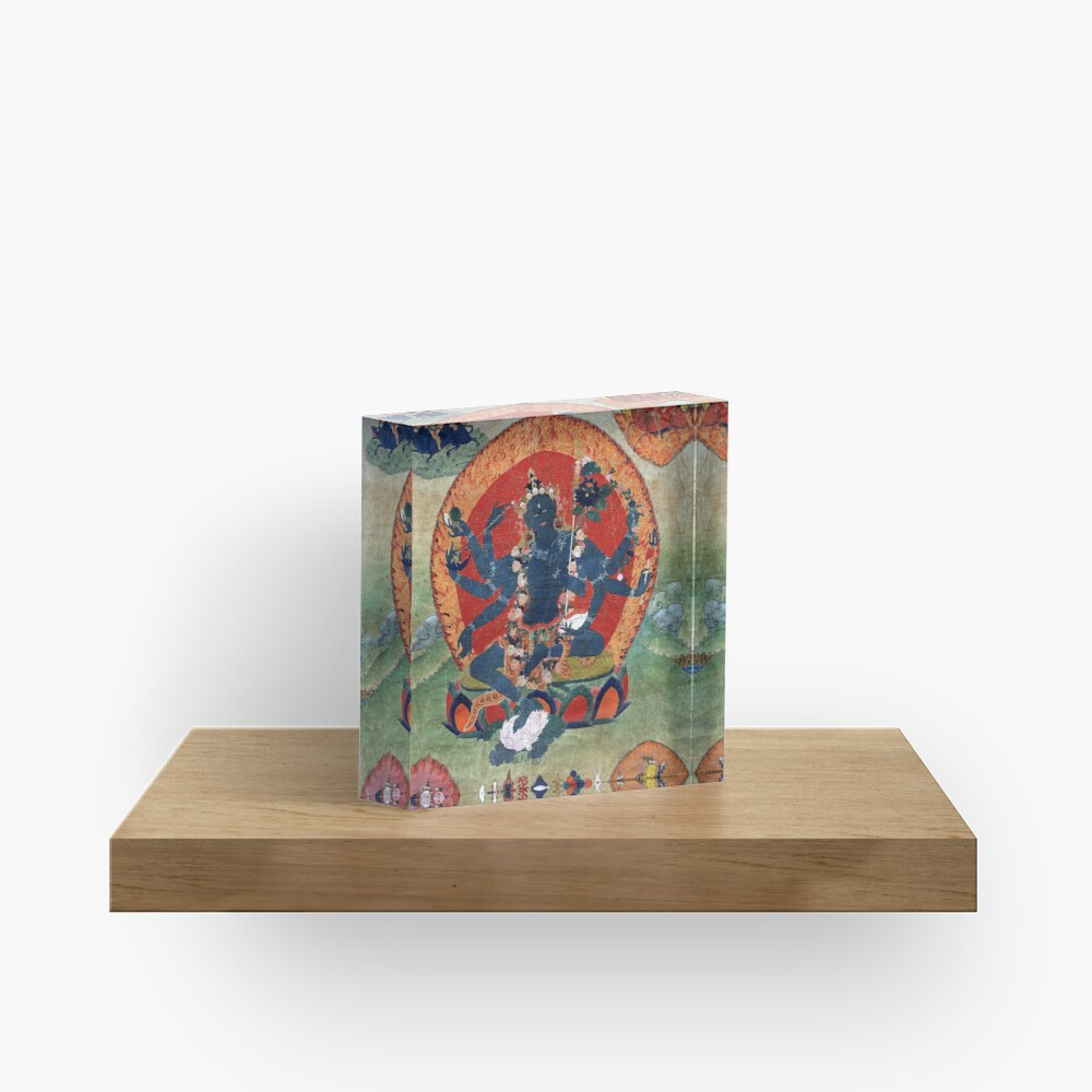 Green Tara Tibetan Buddhist Religious Art Acrylic Block
